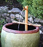 Bamboo Accents Water Fountain with Pump, Backyard