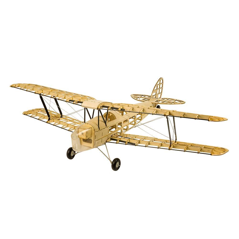 Goolsky バルサウッド RC飛行機 タイガー モスリモートコントロール 複葉機 DIYフライングモデル 組み立てられていないキット バージョン Dancing Wings Hobby S1901 贈り物 B07H341CPW