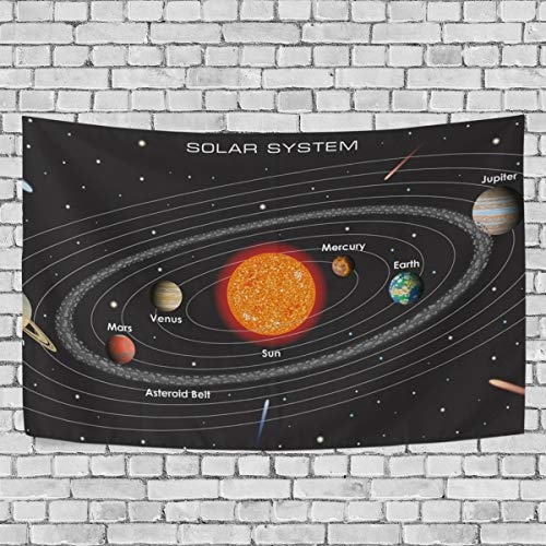 JSTEL Solar System Tapestry Wall Hanging Decoration for Apartment Home Decor Living Room Table Throw Bedspread Dorm 60x51 inches by JSTEL