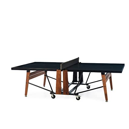 Table Tennis Table with Net Set - Ping Pong Table with Foldable Halves - Attached Rolling  sc 1 st  Amazon.com & Amazon.com : Table Tennis Table with Net Set - Ping Pong Table with ...