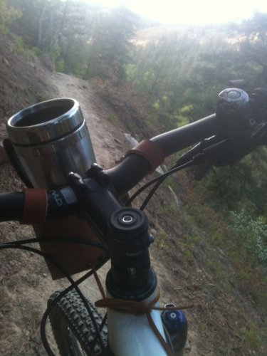 Rocky Mountain Holster Leather Bicycle Cup Holder - Black by Rocky Mountain Holster (Image #3)