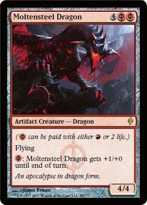 Magic: the Gathering - Moltensteel Dragon - New Phyrexia