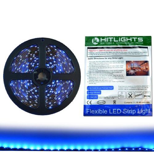 hitlights-led-light-strip-blue-smd-3528-300-leds-164-ft-roll-12v-dc-72-lumens-13-watts-per-foot-indo