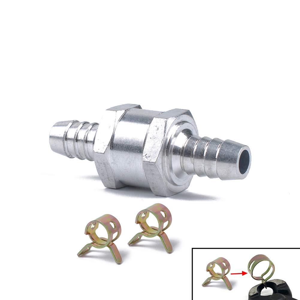 Aluminiumlegierung 8 mm XuBa R/ückschlagventil f/ür Benzin-Diesel 12 mm Federklemme