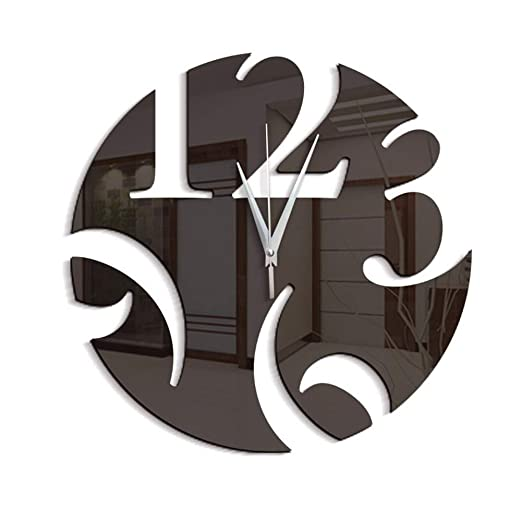 YUNOLL Reloj De Pared DIY Desmontable Ebay Hogar Suministro Respetuoso del Medio Ambiente Reloj De Pared De Moda Desmontable Integrado Pegatinas De Pared ...
