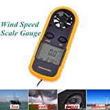 Digital LCD Display Wind Speed Scale Gauge Anemometer Thermometer