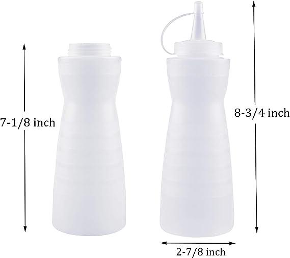Amazon.com: Kingrol - Juego de 10 botellas de plástico con ...