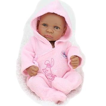 Haisen Van Silicona Completa Reborn bebé muñecas Negro Piel ...