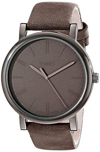 Timex Unisex T2N795AB Originals Gunmetal-Tone Watch with Grey Genuine Leather Band (Timex T2n794)