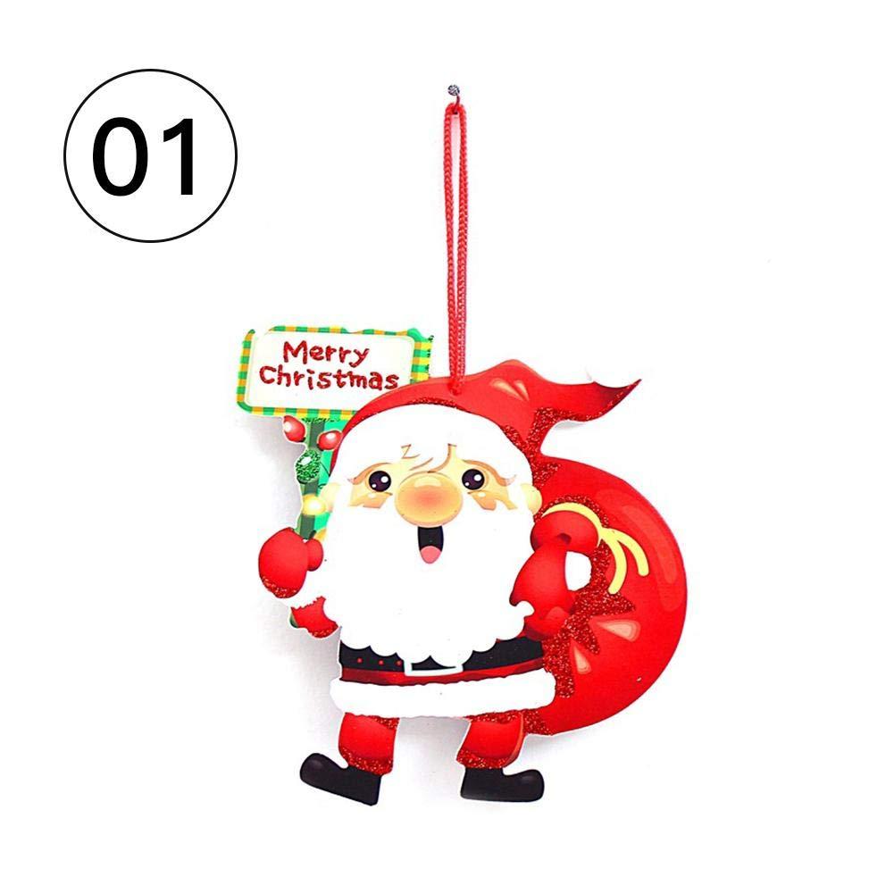 Décoration de Noël Santa Merry Christmas Label fournit des décorations pour la maison de portes et fenêtres mur