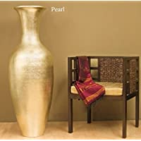 classic lacquer bamboo floor vase pearl - Home Decor Vases