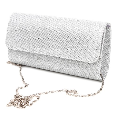 Champagne Dabixx Bridal Clutch Envelope Prom Women's Wedding Party Shoulder Silver Evening Handbag Bag fwPgcqpP