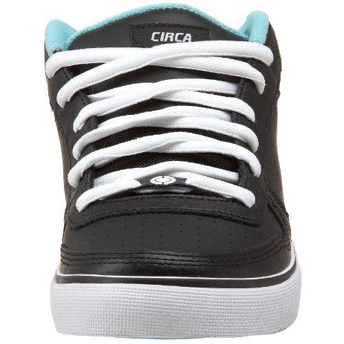 C1RCA Men's 8 Track Skateboarding Shoe,Black/Pool,8.5 M US