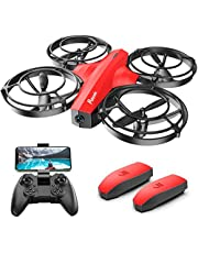 $64 » Potensic P7 Mini Drone for Kids, 720P FPV Battle Drone with Camera for Beginners, Quadcopter with Battle Mode, Altitude Hold, Headless Mode, Custom Path, 3D Flip, Gesture Control, 2 Batteries