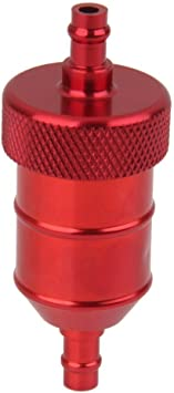 """Motorcycle Pit Dirt Bike ATV Quad Inline Fuel Gas Filter 1//4/"""" 6mm Red"""