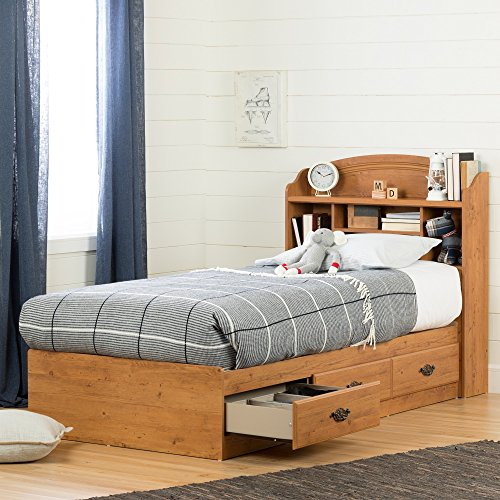 home, kitchen, furniture, bedroom furniture, beds, frames, bases, headboards, footboards,  headboards 5 picture South Shore Prairie Bookcase Headboard with Storage, Twin promotion