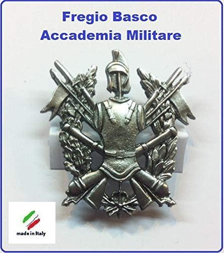 Esercito Italiano Art.NSD-F-23 GS1 Fregio Basco Metallo Accademia Militare E.I