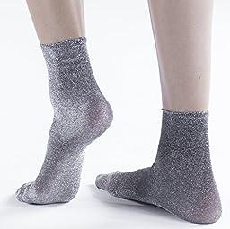 Trasparenze Verbena Dress Socks, Nero/Argento