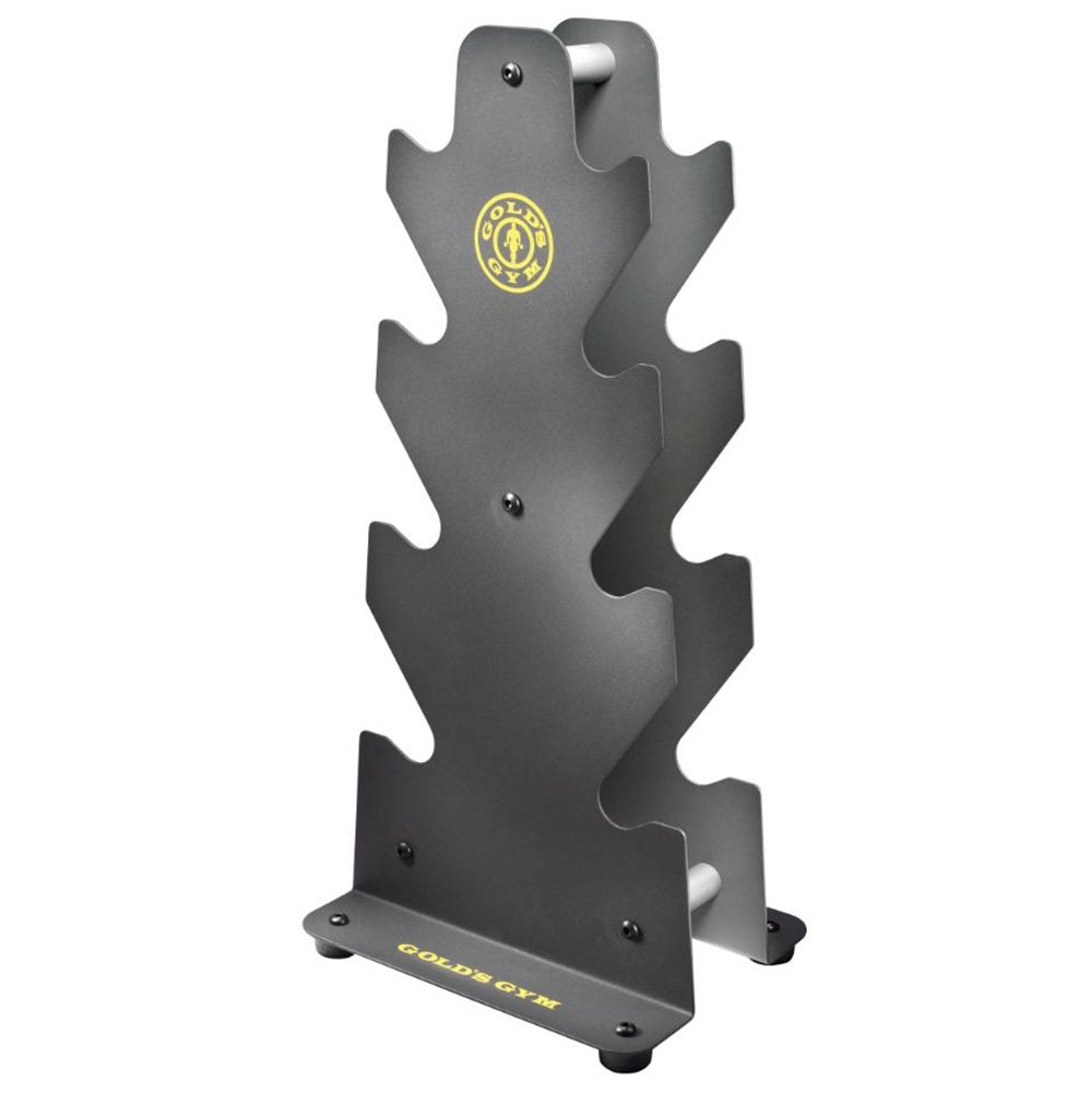 Gold's Gym Steel Strength Training Equipment 3 Tier Dumbbell Rack up to 160 Lbs by Golds Gym
