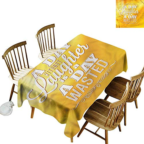 TimBeve Fashions Rectangular Table Cloth Quote Inspirational Be Happy Text It's Good to be Home Gorgeous High End Quality 54