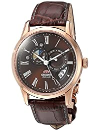 Orient Men's FET0T003T0 Sun and Moon Analog Display Japanese Automatic Brown Watch