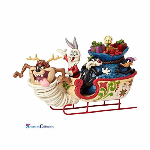 (Jim Shore Looney Tunes 4052811 Looney Tunes Sleigh Ride 2017)