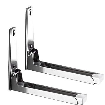 2 soportes para horno de microondas, acero inoxidable, soporte de ...