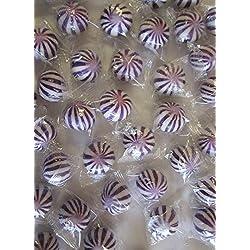 Purple n White Crazy Candy Balls 1 Pound