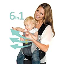 SIX-Position, 360° Ergonomic Baby & Child Carrier by LILLEbaby – The COMPLETE Airflow (Charcoal/Silver)