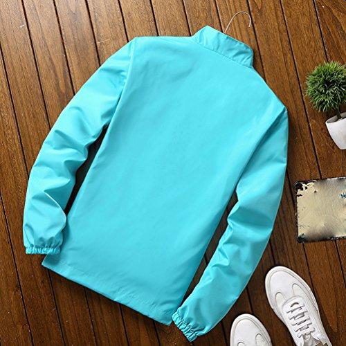 Manga Chaqueta Larga Transpirable Protección Yuanu Color Unisexo Solar Windbreaker XL Outdoor Azul Sólido Verano Encapuchado Amantes Rápido Skin Secado wPaxwS8q