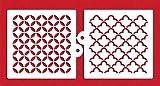 Designer Stencils C2000 Quilting Miniprint Cookie Stencil Set, Beige/semi-transparent