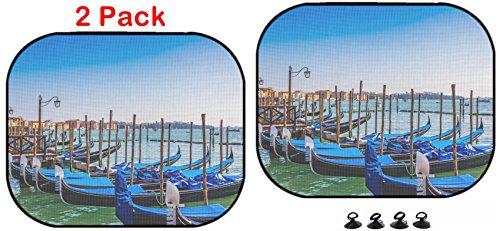 Luxlady Car Sun Shade Protector Block Damaging UV Rays Sunlight Heat for All Vehicles, 2 Pack Image ID: 35375045 Gondolas Boat (Gondola Light Outdoor Car)