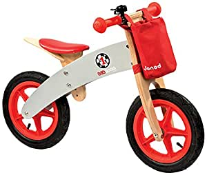 Janod 4503240 - Bicicleta sin pedales con sillín ajustable de 39 a 44 cm, color rojo [importado de Alemania]