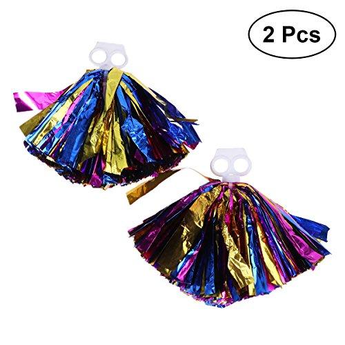 Accessoires Pom Yeahibaby Or Sports 30 Cm 2pcs Kit Taille Cheerleading Rose De Mélange Danse Faveur Bleu Party Poms FqwAEXrw
