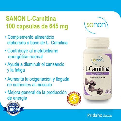 SANON L-Carnitina 100 cápsulas de 645 mg: Amazon.es: Salud y cuidado personal