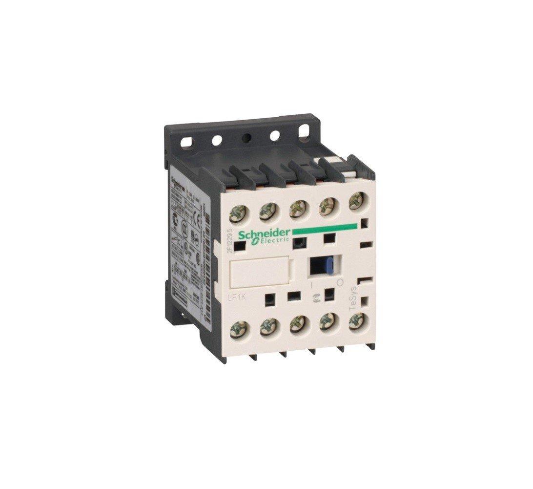 SCHNEIDER ELECTRIC / TELEMECANIQUE LP1K1210BD Contactor, 3PST-NO, DIN Rail, Panel, 690 V, 20 A, 24 V
