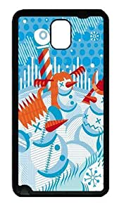 Abstract Vector Snowmen Custom Samsung Galaxy Note 3/ Note III/N9000 Case and Cover - TPU - Black