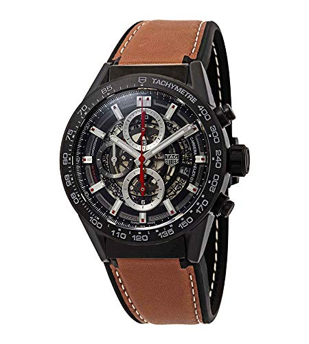 Tag Heuer Carrera Chronograph Automatic Mens Leather Watch CAR2090.FT6124