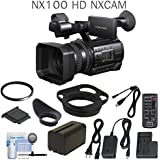 Sony HXR-NX100 Full HD NXCAM Camcorder w/ UV Filter & eDigitalUSA Cleaning Kit