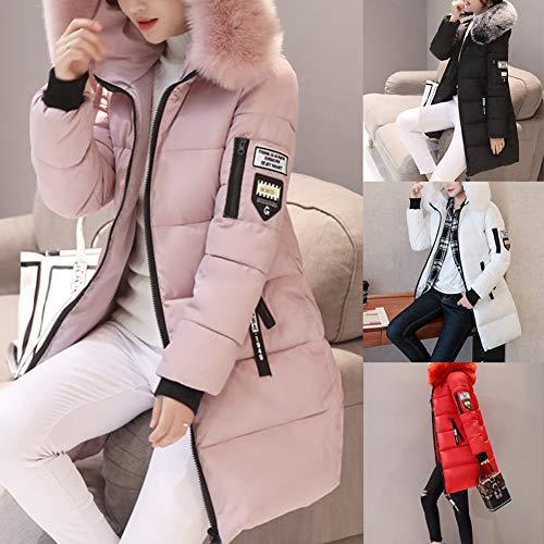 Black Lanlan Corps D'hiver Le L Vers M Manteau Colliers Style Femmes Veste Red Mince De Mode Longue Grands Bas Femme SSUCwqr