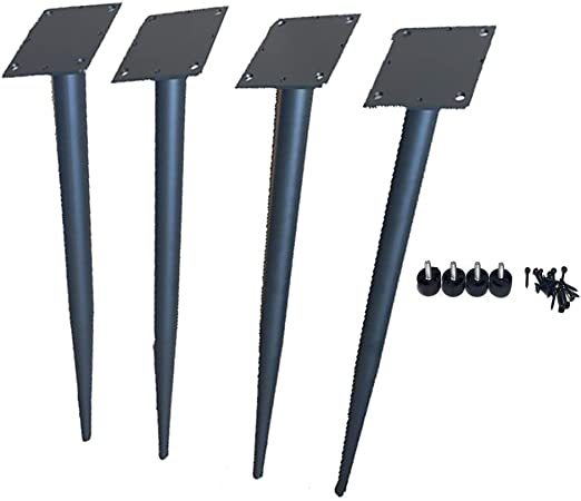 Furniture LE Patas De Mesa De Tamaño Opcional (Negro): Juego De 4 Patas De Mesa