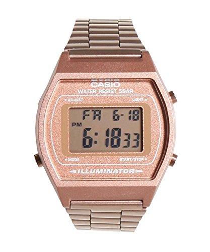 Casio Women's B640WC-5AEF Retro Digital Watch (Rose Gold)