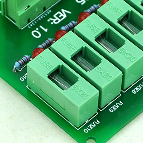 Electronics-Salon Panel Mount 10 Position Power Distribution Fuse Module Board, For AC230V . by Electronics-Salon (Image #8)