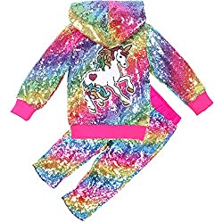 Girls Sequin Unicorn Suits