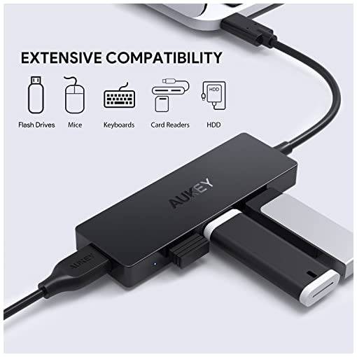 AUKEY USB C Hub Ultra Slim USB C Adapter