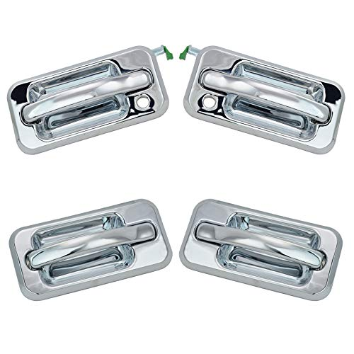 Exterior Outside Door Handle All Chrome SET of 4 Left Right for 03-05 Hummer H2 ()
