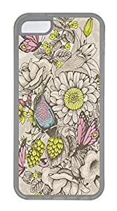 Butterflies And Bees Cases For iPhone 5C - Summer Unique Cool 5c Cases