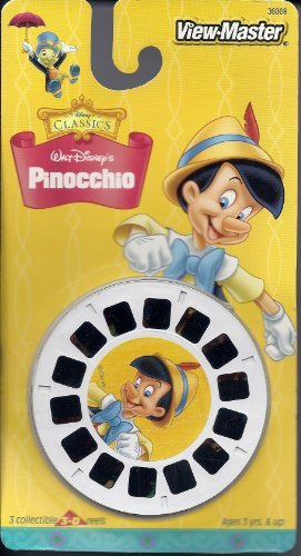Walt Disney's Pinocchio View-Master 3 Reel Set