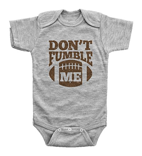 Baffle Funny Football Onesies for Babies/Don't Fumble ME/Baby Bodysuit (Newborn, Grey SS)