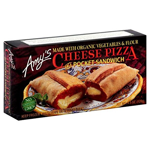 Amy's Cheese Pizza In A Pocket Sandwich, 4.5 Ounce (Pack of 12)